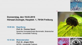 Biomimetics Lectures at the University of Freiburg on 19.03.2015