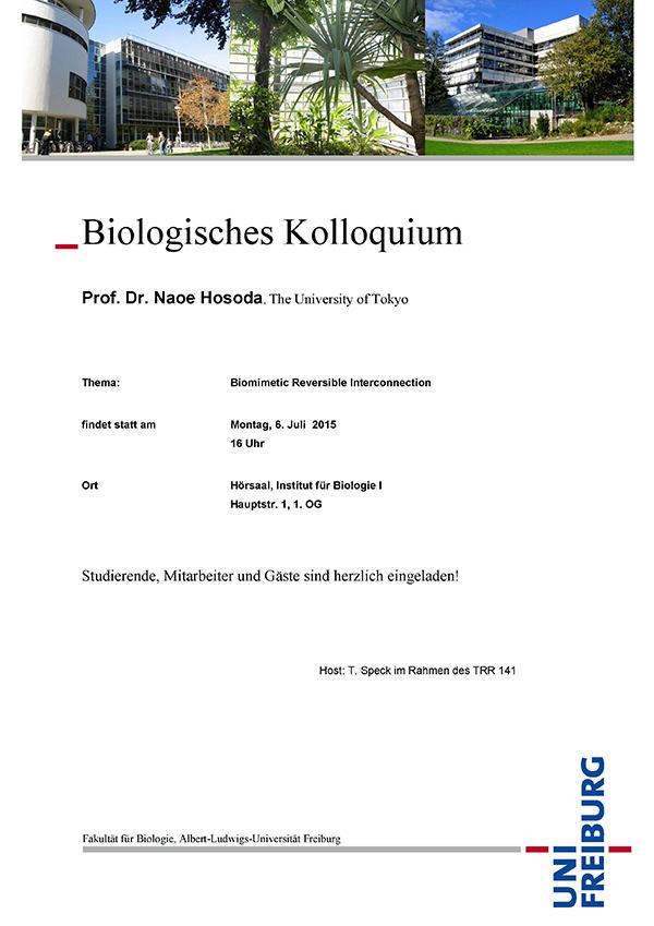 Biologisches Kolloquium 1